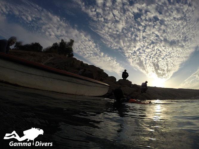 غواصی در سد شهید عباسپور